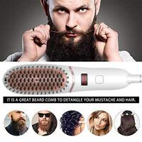 Mini Beard Straightener Comb Negative Ion Hair Straightening Brush Electrical