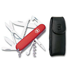 Victorinox Swiss Army Huntsman Pocket Knife with Leather Pouch