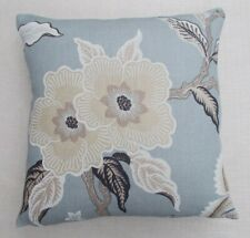 """Schumacher Fabric Cushion Cover HOTHOUSE FLOWERS - MINERAL 100%Linen 18""""/20""""/22"""""""
