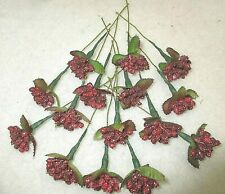 "**15**FLORAL PICKS W/ BURGANDY COLORED BERRIES==5"" LONG  # A-7"