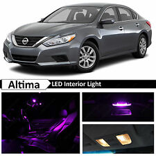 13x Purple LED Lights Interior Bulb Package Kit Fits Nissan Altima 2015-2016