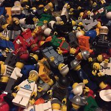 Genuine Lego Minifigures Bundle 5 Random Figures with Hat/Hair & 5x accessories