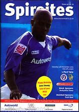 2005/06 Chesterfield V PORT VALE 12-11-2005 LEAGUE 1