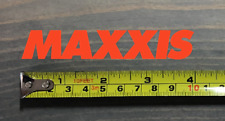 "Maxxis Tires Sticker Decal Bike 4"" Orange DIE CUT Mountain Motorcycle MTB Road"