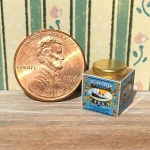 Dollhouse miniatures Beverage 1:12 Ocean Queen Tea Tin
