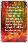 NELSON MANDELA QUOTE POSTER - PHOTO PRINT ART GIFT - COURAGE NOT ABSENCE OF FEAR