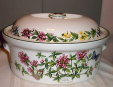 Royal Worcester Worcester Herbs Covered 2 Quart Casserole Dish Pot dated 1990
