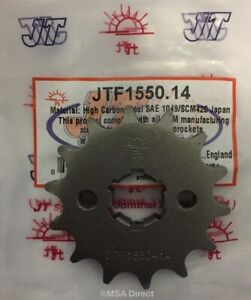 Yamaha WR125R / WR125X (2009 to 2015) JT 14 Tooth FRONT Sprocket (JTF1550-14)