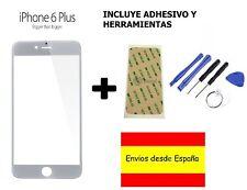 CRISTAL EXTERIOR PANTALLA FRONTAL +ADHESIVO+HERRAMIENTAS IPHONE 6 6S PLUS BLANCO