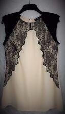 Little Mistress Women's Dress,Pencil,Midi,Applique Lace Detail,Nude UK 14