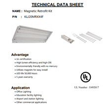 LED Magnetic Retrofit Kit 40 Watt , Driver, and Magnets 5000K 2 x 4 Troffer