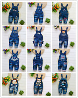 """""""26 Style"""" Kids Baby Boys Girl Overalls Denim Pants Cartoon Jeans Casual Jumpers"""