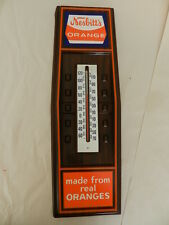 VINTAGE NESBITT'S ORANGE SODA  ADVERTISING THERMOMETER-VINTAGE DRIVE-IN- CARHOP