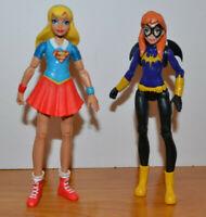 "DC SUPER HERO GIRLS SUPERGIRL & BATGIRL ACTION FIGURE LOT 6"" 2016 COMICS"