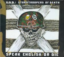 S.O.D. Stormtroopers Of Death Speak English Or Die CD 30th Anniversary SOD BONUS