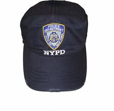 NYPD Baseball Hat New York Police Department Distressed Logo White Letters 94b2b8313547