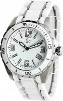 GC BY GUESS X85009G1S WHITE CERAMIC SILVER STAINLESS STEEL UNISEX WATCH