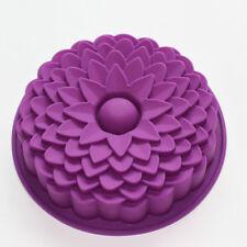 "Chrysanthemum Birthday Round Cake Silicone Mold Shallow Pizza Baking Pan 8"""