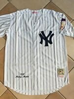 NWT Men's NY Yankees Mickey Mantle Authentic Mitchell & Ness Throwback L