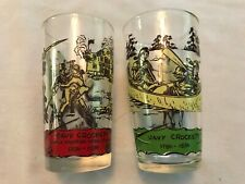 2 Davy Crockett Vintage 1950's Glasses