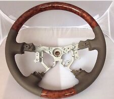 TOYOTA Camry LE XLE wood &Tan Leather Steering Wheel 05 06
