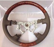 Lexus LX470 GX470 Wood & Taupe Leather Steering Wheel 03 - 08
