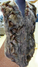 NEU !! Damen Fuchsstücken Weste mit Steppfutter dunkel braun gefärbt Gr. XL
