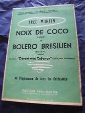 Partitur Noix de coco Bolero der brasilianische Fred Martin Vor mon cabanon