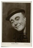 Antique George Robey hand signed autograph photographic postcard actor