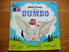 Walt Disney's Story of Dumbo - 24 Page Book and Long Playing Record