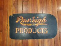 1930's Rawleighs Good Health Products Single Sided Masonite Original Store Sign