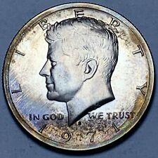 1971-S KENNEDY HALF DOLLAR PROOF UNIQUE TONED COLOR UNC BU GORGEOUS DEEP (DR)