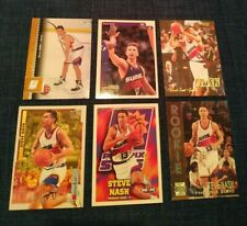 Lot of (6) Steve Nash NBA Basketball Cards - Phoenix Suns w Rookie RCs