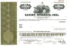 Lucky Stores Inc.,  SPECIMEN SINKING FUND CERTIFICATE