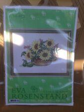 Eva Rosenstand Clara Waever  Counted Cross Stitch Kit 14-463 Sunflowers In Bowl