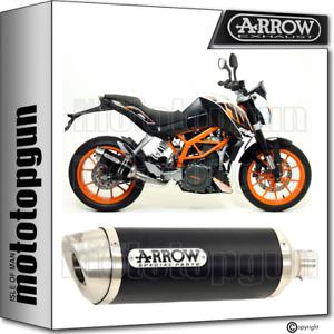 ARROW EXHAUST HOMOLOGATED THUNDER ALUMINIUM BLACK KTM DUKE 390 2013 13 2014 14