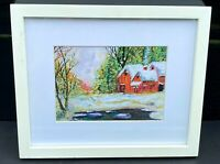 Rare Limited Print of Winter Barns by Lucien Daigneault fine Art home decor