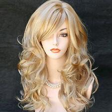 Perruque Longue Ondulée Blonde Femme beauté naturelle