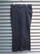 "River Island Women's Black Flared Jeans ""Joie De Viere Eternelle"" Size 14"