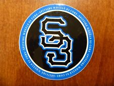 "SPITFIRE WHEELS S3 2.5"" VINYL STICKER BLACK/BLUE/WHITE REAL GONZ BUSENITZ KOSTON"