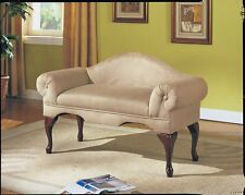 OpenBox Acme 05630 Aston Microfiber Rolled Arm with Back Bench, Beige Finish