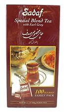 SADAF Special Blend Tea with Earl Grey ~ 100 Tea BagsExpiration Date: 1 MAR 2019