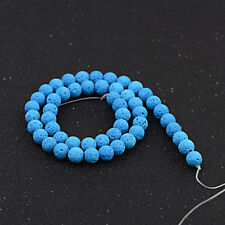 Dyed Volcanic Lava Rock Gemstone Beads Natural Stone Round 8mm Loose DIY Beads
