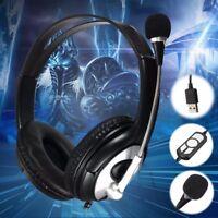 OVLENG USB Stereo Audio Headphone Headset Earphone Mic for PC Laptop Notebook