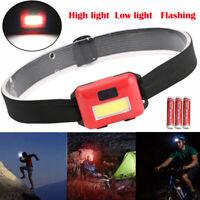 LED 3 Mode Headlamp AAA Headlight Adjustable Camping Flashlight Torch Lamp Light