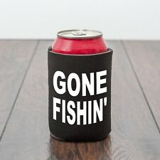 Gone Fishin' beer can cooler/Fishing/Fish/Beer Lover/Novelty/Funny drinks gift