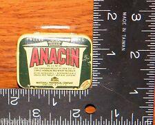 Vintage Anacin Aspirin Tin - Whitehall Pharmacal Company (No Medicine Included)