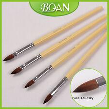 1Pc Wood Handle Salon Nail Art Design Pure Kolinsky Hair Acrylic Nail Brush 10#