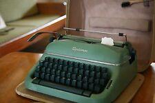 Olympia Pea Green Portable Typewriter