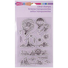 Stampendous Perfectly Clear 'Hot Air Scapes' Stamps